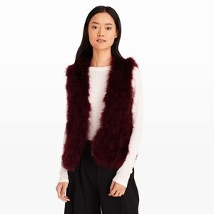 NWOT Club Monaco Marabou Feather Vest